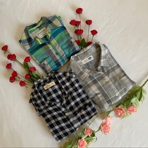 BUNDLE of 3 Fannel Long Sleeve Shirts - Size XS